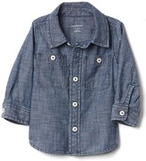 Gap 1969 Long Sleeve Chambray Shirt