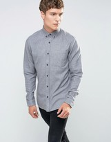 ONLY & SONS Brushed Cotton Button Down with Contrast Cuff
