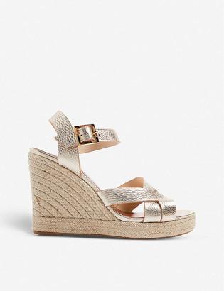 Ted Baker Selanam metallic espadrille wedge sandals