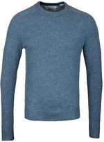 Penguin Aegean Blue Crew Neck Lambswool Sweater