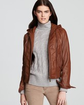 KORS Hooded Leather Jacket