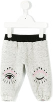 Kenzo winking eye print track pants - kids - Cotton/Polyester - 3 mth