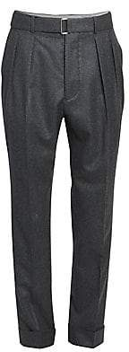 Officine Generale Men's Pierre Pleated Cuffed Dress Pants