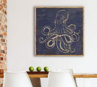 Pottery Barn Octopus Carved Wood Wall Art
