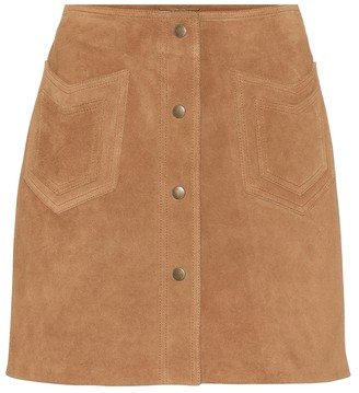 Saint Laurent Suede miniskirt