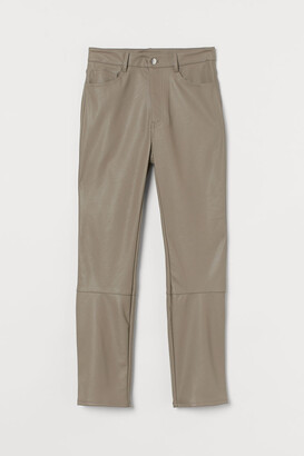 H&M Faux Leather Pants - Brown
