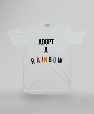 Arbol - Adopt a rainbow White T-Shirt - S - White/Red/Blue