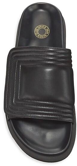 Thumbnail for your product : Dries Van Noten Trek-Sole Leather Slides