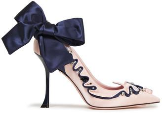 Roger Vivier Viv Couture Bow-embellished Satin Pumps