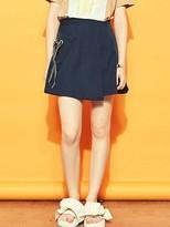 Blank Eyelet Mini Skirt-nv