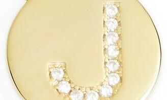 Sterling Forever Crystal Embellished Initial Pendant