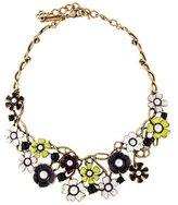 Oscar de la Renta Floral Resin & Faux Pearl Collar Necklace