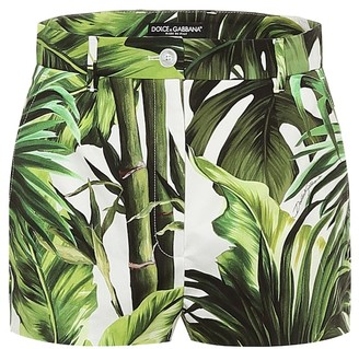 Dolce & Gabbana Printed stretch-cotton shorts