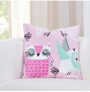 "Crayola Night Owl 16"" Designer Throw Pillow"