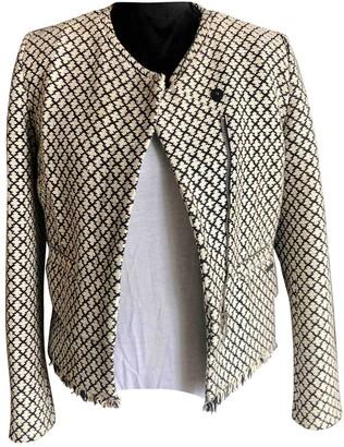 Maison Scotch Ecru Cotton Jacket for Women