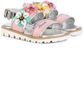 Simonetta floral sandals - kids - Goat Skin/Leather/plastic/rubber - 27