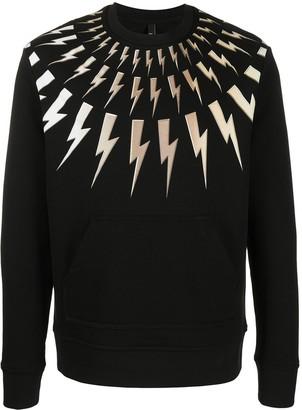 Neil Barrett Bolt Print Sweatshirt