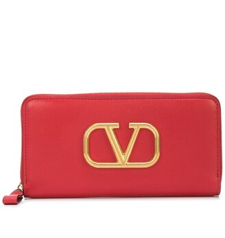 Valentino calf leather VLOGO detail wallet