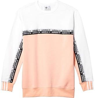 adidas Kids Kids RYV Crew Sweatshirt (Little Kids/Big Kids) (Glow Pink/White) Girl's Clothing