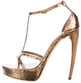 Alexander McQueen Metallic Platform Sandals