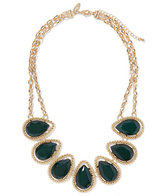 New York & Co. Teardrop Faux-Stone Bib Necklace