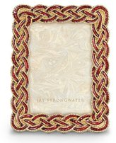 "Jay Strongwater Aileen Braided 3.5"" x 5"" Frame"