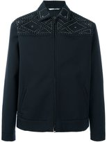 Valentino studded field jacket - men - Cotton/Lyocell/Brass/glass - 50
