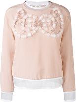 Fendi embellished top - women - Silk/Polyamide/Viscose/Polyester - 40