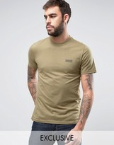 Barbour T-shirt With International Logo Print Slim Fit In Green