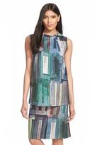Lafayette 148 Fonda Print Wool Blend Sleeveless Blouse