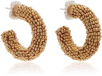 Suzanna Dai Mallorca Beaded Hoop Earrings