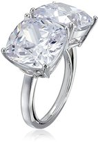 "Kenneth Jay Lane CZ by Trend"" 20CTTW Cushion Double Trend One Size Ring"