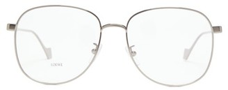 Loewe Aviator Metal Glasses - Womens - Dark Grey