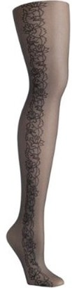 Hanes Womens Tattoo Floral Control Top Fashion Tights Style-HFT031