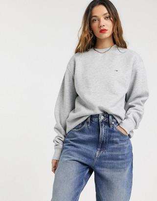 Tommy Jeans organic cotton classic sweatshirt-Gray