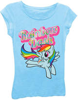 Asstd National Brand My Little Pony Girls' Rainbow Dash Flying Short Sleeve Graphic T-Shirt with Oil Slick Ink