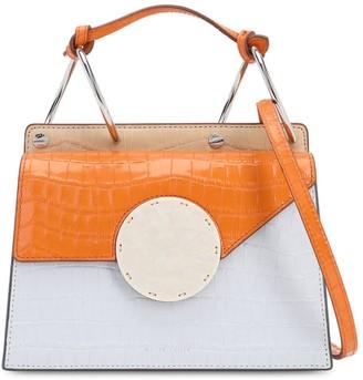 Danse Lente Phoebe Bis Croc Embossed Leather Bag