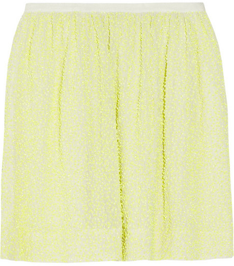 J.Crew Citron sequined silk-crepe mini skirt