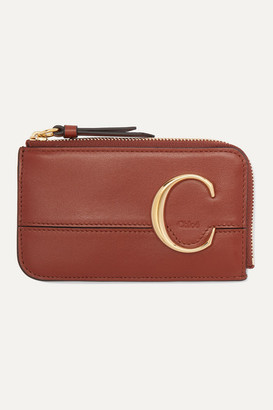 Chloé C Leather Cardholder - Brown