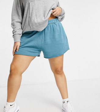 Nike Plus washed jersey shorts in blue