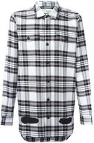 Off-White diagonal stripes plaid shirt - men - Cotton - XXS