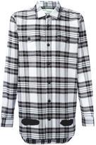 Off-White diagonal stripes plaid shirt