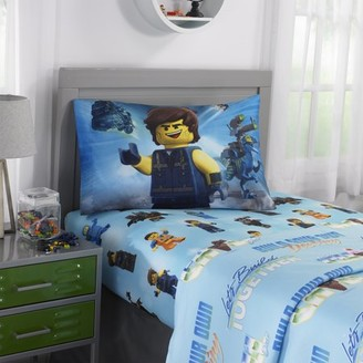 Lego The Movie 2 Microfiber Sheet Set, Kids Bedding, Rex Dangervest, 3-Piece TWIN