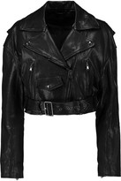 Tibi Anesia Belted Leather Jacket