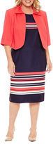 MAYA BROOKE Maya Brooke 3/4 Sleeve Jacket Dress-Plus