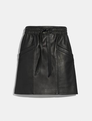 Coach Leather Skirt
