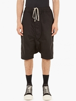 Rick Owens Black Boxer Pod Shorts