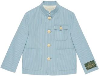 Gucci Children's striped cotton jacket