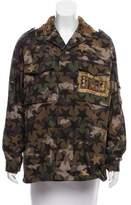 Valentino Embellished Camouflage Jacket