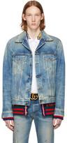 Gucci Blue Denim cemetery Forever Punk Jacket